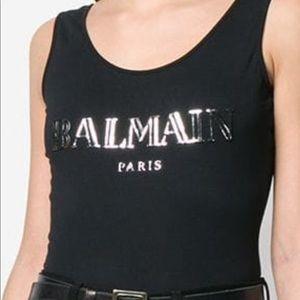 NWT Balmain Paris Black Bodycon Bodysuit